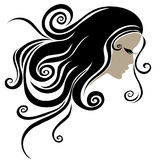 Vector Decorative portrait of woman Stock Photography