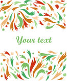 Vector decorative retro greeting card or invitation. On a white background Stock Image