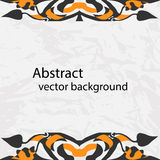 Vector decorative ribbon. Abstract vector background. Stock Photography