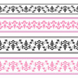 Vector decorative ribbon. Seamless strip. Royalty Free Stock Photography