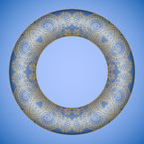 Vector decorative round element. Royalty Free Stock Photography
