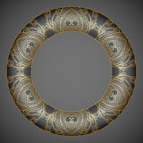 Vector decorative round element. Stock Photography