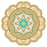 Vector decorative round element. Royalty Free Stock Photos