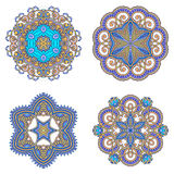Vector decorative round elements. Stock Image