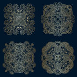 Vector decorative round elements. Royalty Free Stock Photo
