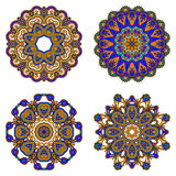 Vector decorative round elements. Royalty Free Stock Photography