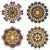 Vector decorative round elements. Royalty Free Stock Images