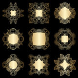 Vector decorative round elements. Royalty Free Stock Photos