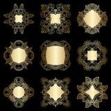 Vector decorative round elements. Royalty Free Stock Photos