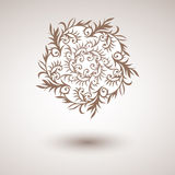 Vector decorative round ornament with floral elements. Stock Photography