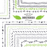Vector Decorative Scribble Paintbrushes Royalty Free Stock Photo