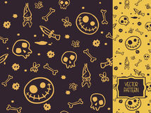 Vector decorative seamless pattern for Halloween parties Royalty Free Stock Photography