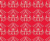 Vector decorative seamless red pattern. Abstract decorative seamless red pattern Stock Images