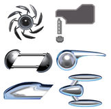 Vector of decorative. Vector set of decorative for matal and electronic vector illustration