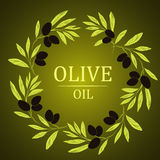 Vector decorative wreath olive branch.For labels, Stock Image