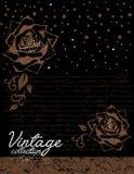 Vector decorativo de las rosas del vintage Foto de archivo