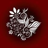 Vector decorativo del diseño de la flor stock de ilustración