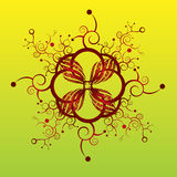 Vector decorativo del diseño de la flor ilustración del vector