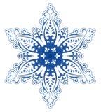 Vector decorativo del ornamento del copo de nieve Imagen de archivo