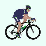 Vector Deep-Blue Green racing cyclist illustration royalty free stock images