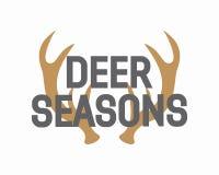 Vector deer antler logo Stock Images