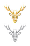 Vector deer head isolated Royalty Free Stock Image