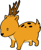 vector Deer illustration Stock Images