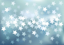 Vector Defocused lights in star shape Royalty Free Stock Photo