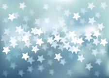 Vector Defocused lights in star shape Royalty Free Stock Photo