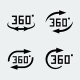 Vector '360 degree rotation' icons. Vector '360 degree rotation' concept icons set Royalty Free Stock Photos