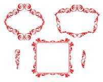 Vector dekorative Felder Lizenzfreies Stockbild