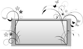 Vector dekorative Karte Lizenzfreies Stockbild