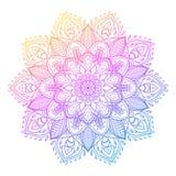 Vector dekorative Lotus-Blume, ethnische Kunst, kopiertes indisches pai Stockbilder
