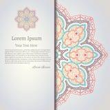 Vector dekorative Mandala, bedruckbares rundes Muster mit vielen Details Stockfotografie