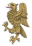 Vector del águila del oro Foto de archivo libre de regalías