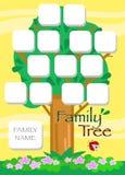Vector del árbol de familia de la historieta Fotografía de archivo libre de regalías