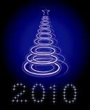 Vector del árbol de navidad en fondo negro Fotografía de archivo libre de regalías