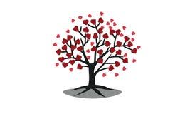 Vector del árbol del corazón Foto de archivo libre de regalías