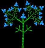 Vector del árbol floreciente Imagen de archivo libre de regalías