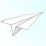 Vector del aeroplano de papel Fotografía de archivo libre de regalías