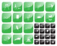 Vector del alimento symbol2 Fotos de archivo libres de regalías