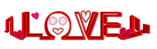 Vector del amor Fotografía de archivo