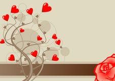 Vector del amor de la tarjeta del día de San Valentín Fotografía de archivo libre de regalías