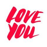 Vector del amor Muestra feliz del día de tarjetas del día de San Valentín Imagenes de archivo