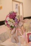 Vector del asunto con las flores Fotografía de archivo