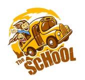 Vector del autobús escolar Imagenes de archivo