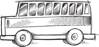 Vector del autobús escolar del garabato Foto de archivo libre de regalías