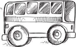 Vector del autobús escolar del garabato Fotografía de archivo