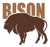 Vector del bisonte Imágenes de archivo libres de regalías