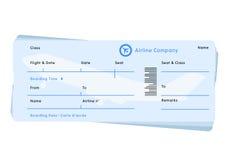 Vector del boleto del vuelo de la línea aérea Foto de archivo libre de regalías